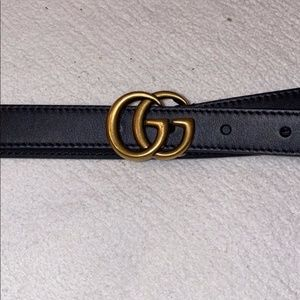 Authentic Skinny GG Belt